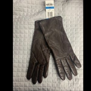 BNWT! Alfani Brown Leather Gloves